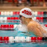 image: Ball State Men Swim Past…