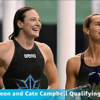 image: Emma McKeon and Cate Cam…